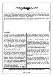 Pflegetagebuch - Ambulante Pflege Angeln