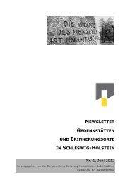 Nr. 1, Juni 2012 - Gedenkstätten Schleswig Holstein