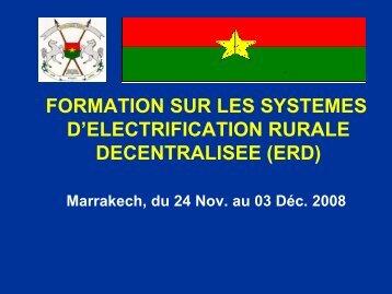 Présentation du Burkina Faso - RIAED