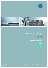 Lokal energiutredning Nesna kommune - Helgelandskraft