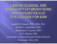 Linking Evidence-Based Clinical and Community Interventions