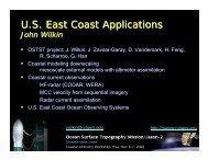 US East coast applications (including synergy with HF ... - COASTALT
