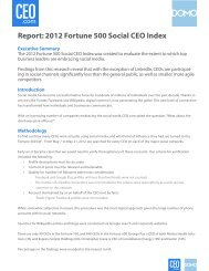 Report: 2012 Fortune 500 Social CEO Index - L'Atelier