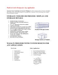 walk in coolers and freezers - Eastern