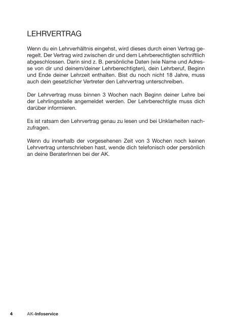 DEINE RECHTE ALS LEHRLING - Arbeiterkammer