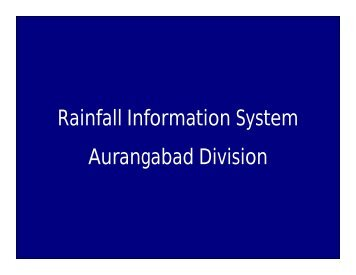 Rainfall Information System Aurangabad Division