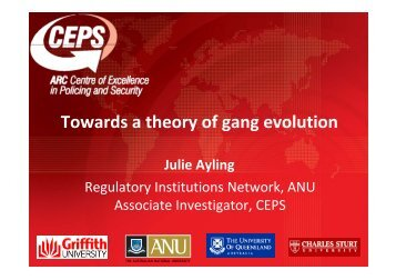 Towards a theory of gang evolution