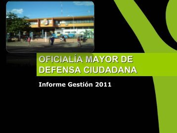1er Informe Cuatrimestral 2010 - Santa Cruz de la Sierra