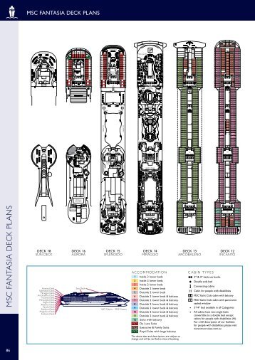 Msc armonia for Deckplan msc splendida