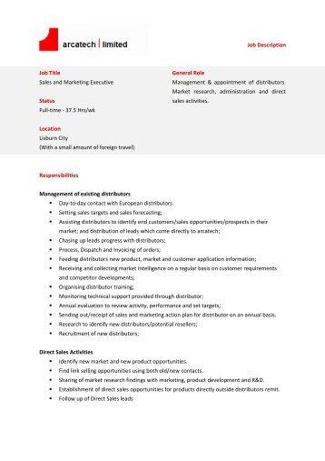 Marketing Executive Job Description Marketing Consultant Job