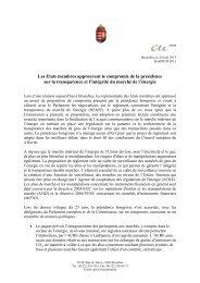 Les Etats membres approuvent le compromis de la présidence sur ...