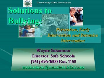 Bullying Prevention Classroom Strategies - Santa Cruz County ...