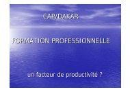 CAP/DAKAR FORMATION PROFESSIONNELLE