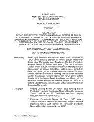 Permen 24 Thn 2006 – Pelaksanaan SI & SKL