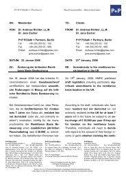 Dr. Andreas Richter, LL.M. Dr. Jens Esche - P+P Pöllath + Partners