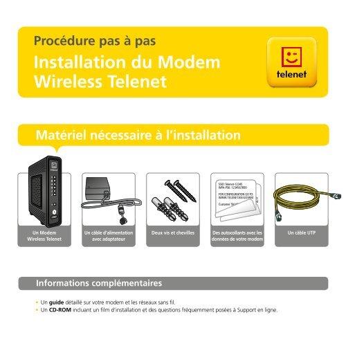 Installation du Modem Wireless Telenet - Klantenservice