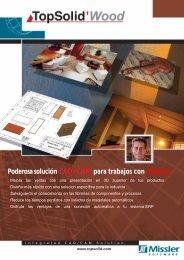 Poderosa solución CAD/CAM para trabajos con Madera - TopSolid