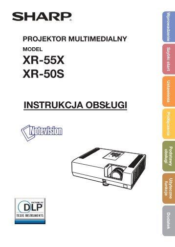 XR-55X/50S Operation-Manual PL - Sharp