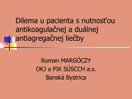 Dilema u pacienta s nutnosťou antikoagulačnej a duálnej ...
