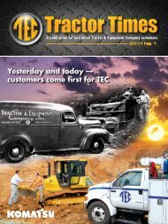 customers come first for TEC - TEC Tractor Times
