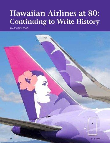 Hawaiian Airlines at 80: continuing to write history - Ken Donohue