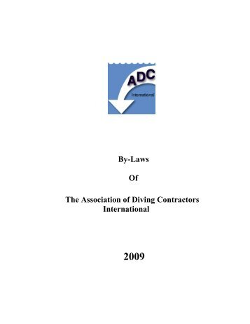 Article IV. Board of Directors - Association of Diving Contractors ...