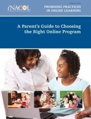 A Parent's Guide to Choosing the Right Online Program - iNACOL