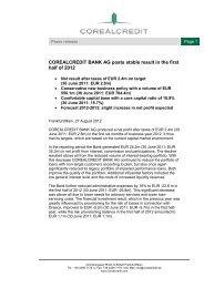 English - Corealcredit Bank AG