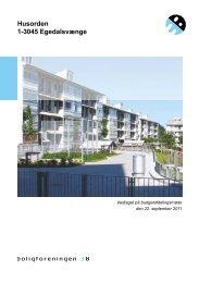Husorden 1-3045 Egedalsvænge - Boligforeningen 3B