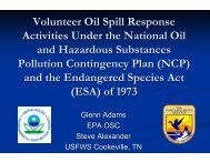 Volunteer Oil Spill Response Activities Under the National Oil and ...