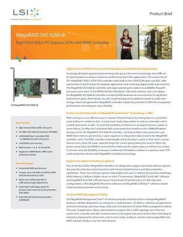 MegaRAID SAS 9266-8i - Costcentral.com