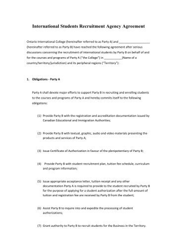 Model Agency Agreement Salvtug Manpower