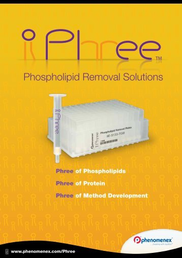Phree Phospholipid Removal Solutions - Phenomenex