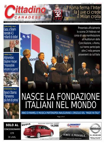 nasce la fondazione italiani nel mondo - il cittadino canadese