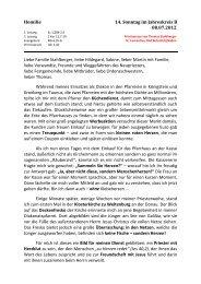 Festpredigt zur Primiz von Kaplan Sascha Jung - St. Laurentius ...