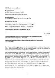 AOK-Bundesverband, Bonn Bundesverband der - Ambulante Pflege ...