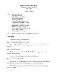 November 12, 2002 - Workers' Compensation Board