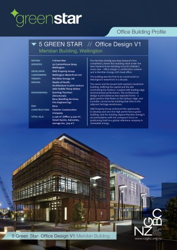 Meridian Building - The New Zealand Green Building Council