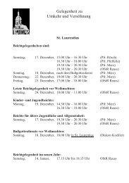 Pfarrblatt Nr. 16 vom 17.12.11 - 15.01.2012 - St. Laurentius Gaggenau