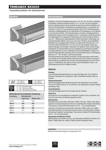 TENDABOX BX3000 - Schmid Storen AG