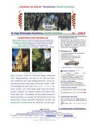 Rundreise South Carolina mit Mietwagen - World Travel Net