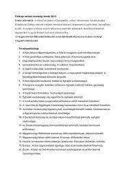 Földrajz szóbeli érettségi témák 2013. Fontos információ: A tételek ...