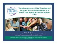 Transformation of a Child Development Program from a Medical ...