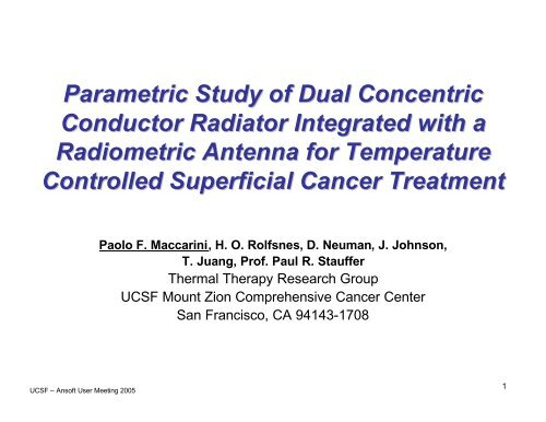 Antenna Design Using HFSS for Hyperthermia Applications