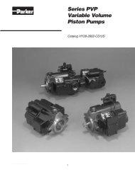 Parker - Series PVP Variable Volume Piston Pumps - Siebert ...