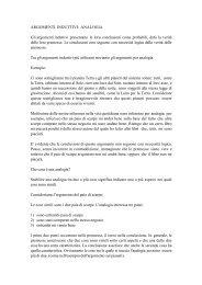 ARGOMENTI INDUTTIVI: ANALOGIA Gli argomenti ... - Filosofia