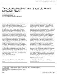 Talocalcaneal coalition in a 15 year old female basketball player