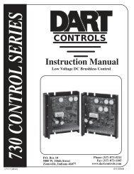 Dart Controls Pulse width modulated battery control 65E60