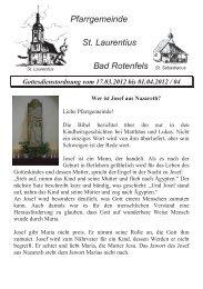 Die Feier der Heiligen Woche in der Gemeinde - St. Laurentius ...