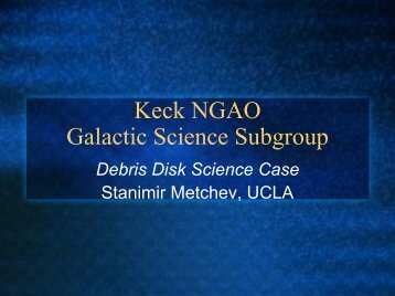 Galactic Science: Debris Disks